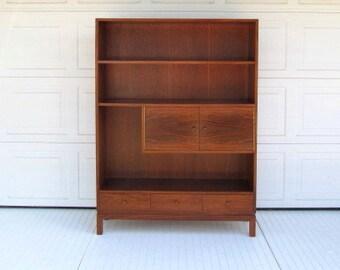 Mid Century Wall Unit,  Shelves, Cabinet