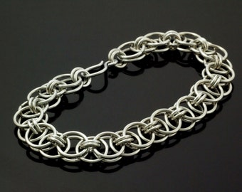 Aluminum Helm Chainmaille Bracelet  - Kit or Ready Made