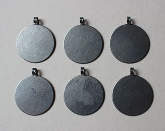 Vintage Industrial Silver Beaver Tail Pendant Blanks