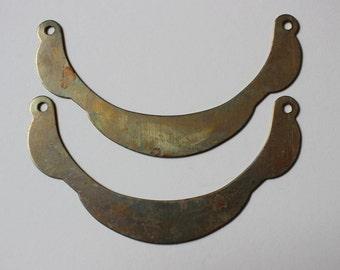 Oxidized Brass Pendant Blanks