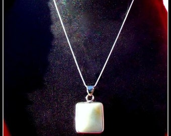 AMAZING AMAZONITE necklace in Sterling silver, Sterling silver pendant necklace