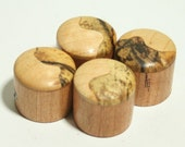Set of 4 Cherry Guitar Knobs with Maple and Spalted Maple Cap (3/4 dia x 11/16 height)