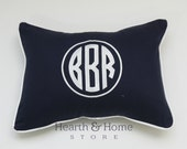 Large Monogrammed Pillow , Monogram Pillow, Personalized Kids Pillow, Dorm Decor, Monogrammed Wedding Gift , Nursery Pillow