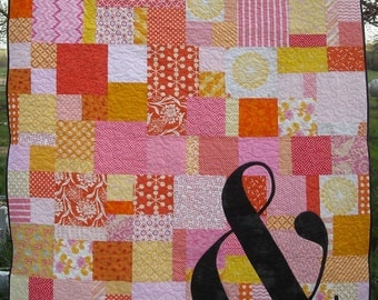 AmpersAnd Throw Quilt Pattern, PDF version