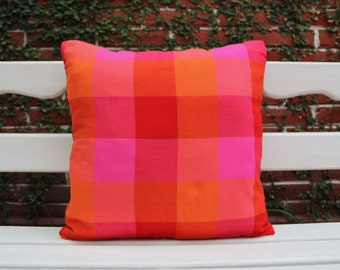 Multi colored pink and Orange sham Ready to ship.