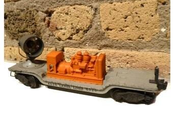 Lionel Lines Train Searchlight Car #6520. Mid-Century Post War Vintage Toy.