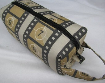Movie Film Reel Cosmetic Bag Makeup Bag LARGE