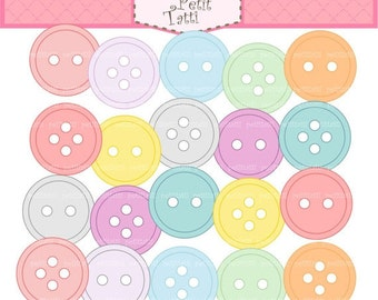 ON SALE craft colour botton clip art clipart - sewing bottons clip art, sewing clip art,sweet soft colour buttons, INSTANT Download Digital