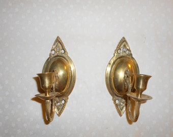 Solid Brass Candle Sconce set of 2