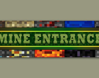 Minecraft Inspired  Door sign