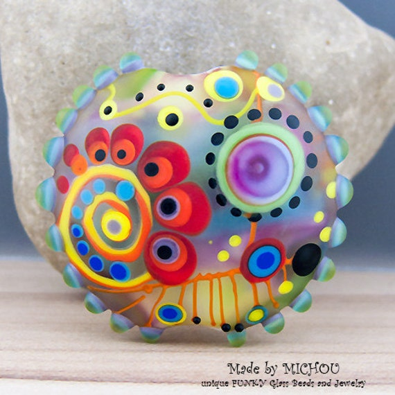Faraway art glass bead by michou p anderson for Anderson art glass