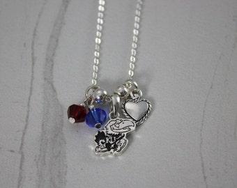Kansas Jayhawk Charm Necklace