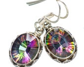 Sale, Beautiful Mystic Topaz Earrings, 925 Silver,Gift for Her