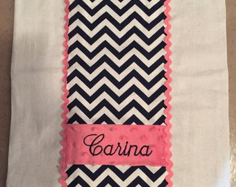 Baby boy or girl burp cloths or diapers customized with name or applique of your choice