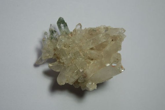 Himalayan quartz crystals cluster with some green chloriteQuartz Crystals Cluster
