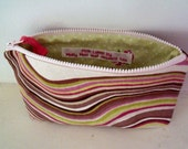 Abstract Multi Coloured Fully Lined Zippered Bag