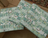 Quilted Table Runner in Aqua Blues and Greens, Extra Long Table Runner, Modern Table Runner, Beach Theme, Water Theme, Long Table Quilt