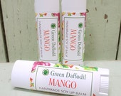 Mango Soy Lip Balm Tube- Vegan - Green Daffodil