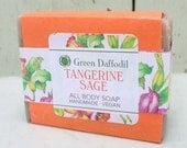 Tangerine Sage Bar Soap - Green Daffodil