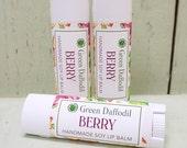 Berry Soy Lip Balm Tube- Vegan - Green Daffodil