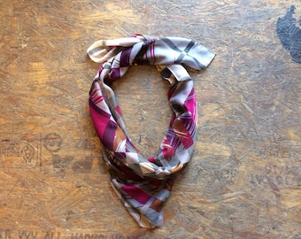 Buy 1 + Get 1 FREE = Western Checkers Scarf, Pink Grey White Scarf, Light Weight, 100% Cotton Scarves, Gift Ideas for Her Women