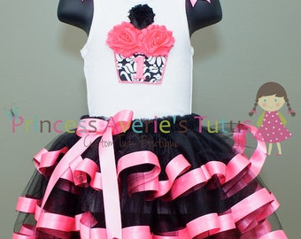 Ready to Ship Tutus Black and hot pink Tutu Set. Sold As in description.