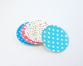 Miniature Plates - Dollhouse Paper Plates in Polka Dot Patterns - 1/12 Scale Dollhouse Miniatures