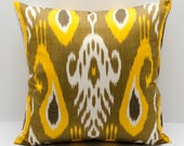 18x18, ikat pillow cover, bohemian decoration, bohemian home design in Oriental style