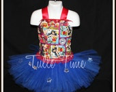 Wonder Woman super hero birthday corset tutu dress any size 12 months 18 months 2t 3t 4t 5t pageant parade