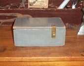 Distressed Wood Box , Hand Made ,used to be a Bank Money Box
