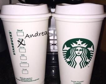 Custom Starbucks Barista Travel Mug