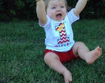 Personalized Circus Pennant Birthday Shirt with Number