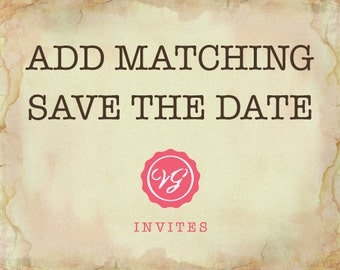 Add Matching Save The Date