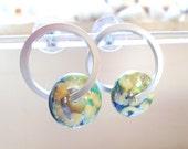 Glass Lampwork Earrings, Glass Hoop Earrings, Handmade Jewelry, Handmade Glass Lampwork Jewelry Christmas Gift for Her