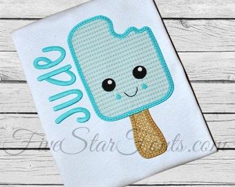 Sweet Popsicle Ice Cream Applique