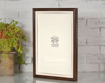 11x17 inch Picture Frame in 1x1 Double Cove Build up Style and in VINTAGE Finish Color Combination of YOUR CHOICE - Handmade 11x17 Art Frame