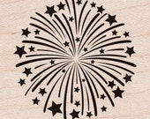 "Fireworks Rubber Stamp • Fireworks Stamp • Hero Arts Mounted Rubber Stamps 1.5""X1.75"" • July 4th (D5999)"