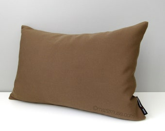 SALE - Chocolate Brown OUTDOOR Pillow Cover, Modern Cocoa Sunbrella Cushion Cover, Indoor, Masculine, Decorative Throw Pillow Case