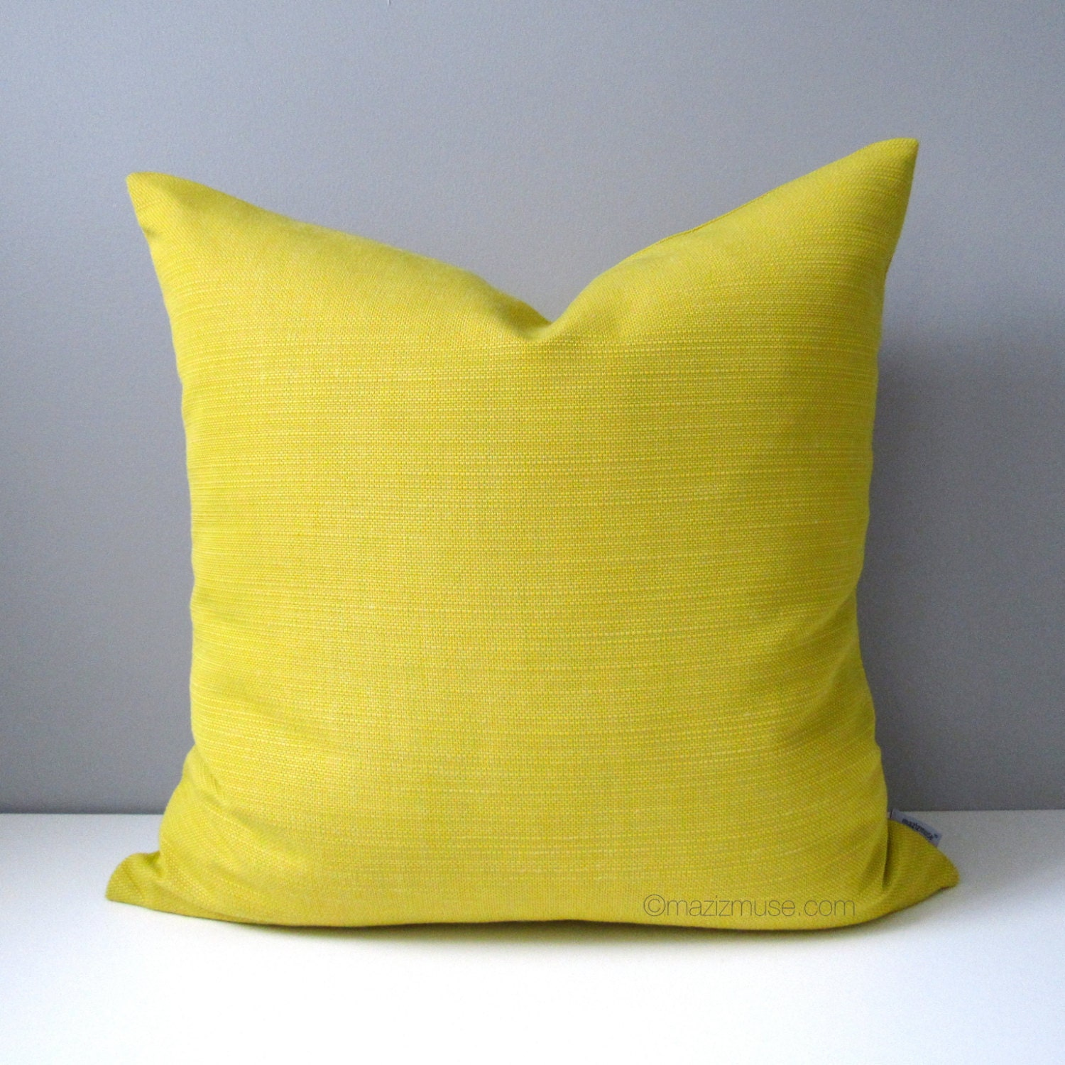 Throw Pillow Covers Yellow : Acid Yellow Pillow Cover Decorative Pillow Case Modern