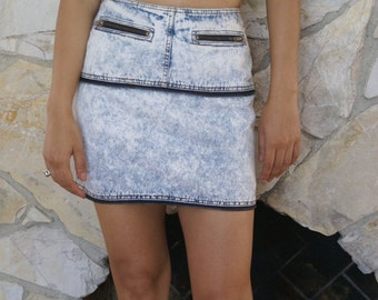 Sale Distress denim mini skirt