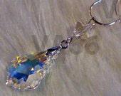 "Swarovski Strass 6090 Baroque Crystal Pendant 22mm x 15mm 925 Sterling Silver 18"" Necklace Chain Bicone Birthday, Bridal Shower, Bridesmaids"