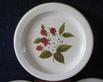 """Vintage Mikasa """"Raspberry Hill"""" Dinner Plates - Set of 5"""