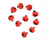 Ladybug Sugar Decorations, Ladybug Party, Ladybug Cupcake Sugar Toppers (12)