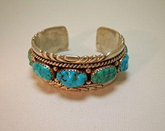 Robert & Bernice Leekya Bracelet Silver Turquoise PETITE