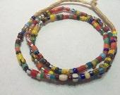Fabulous Christmas trade bead strand /necklace  glass