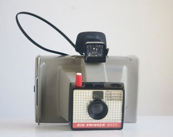 Camera, Polaroid Big Swinger 3000, Studio or Man Cave Decor, Retro Camera, Decor Camera