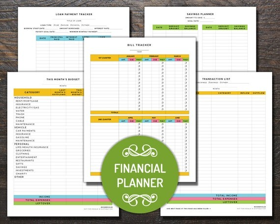 Financial planning worksheet fillable pdf