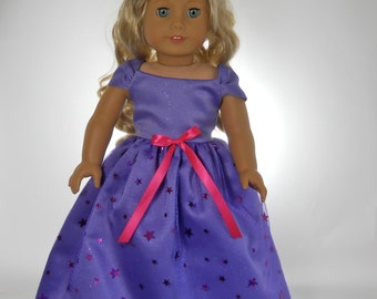 18 inch doll clothes,  Lavender Fancy Dress, 06-0278