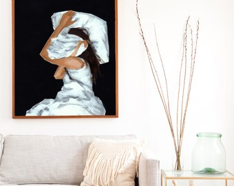 Covered .  extra large wall art . giclee print