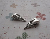 20pcs 32mmx15mm skull bird Antique Silver Retro Pendant Charm For Jewelry Pendant